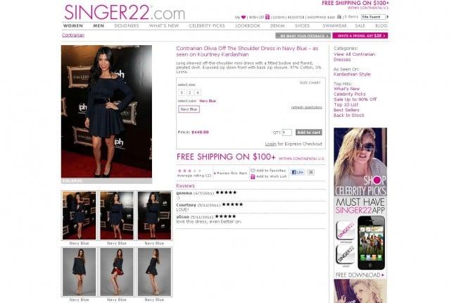 Singer22.com Vestido Contraria Kardashian