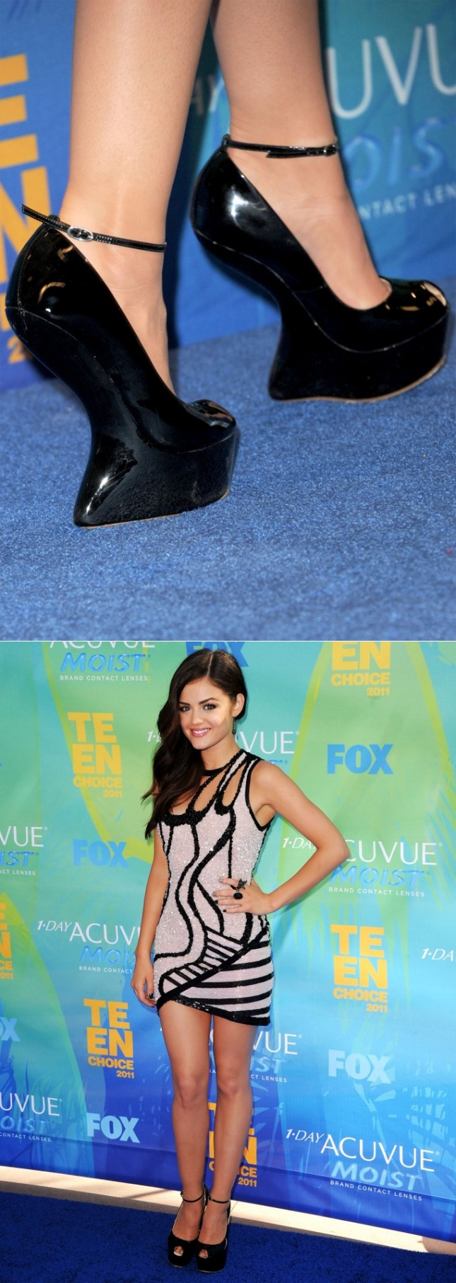 Sapato Lucy Hale Teen Choices Awards