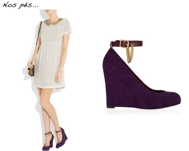 Look com Anabela Marc by Marc Jacobs wedge