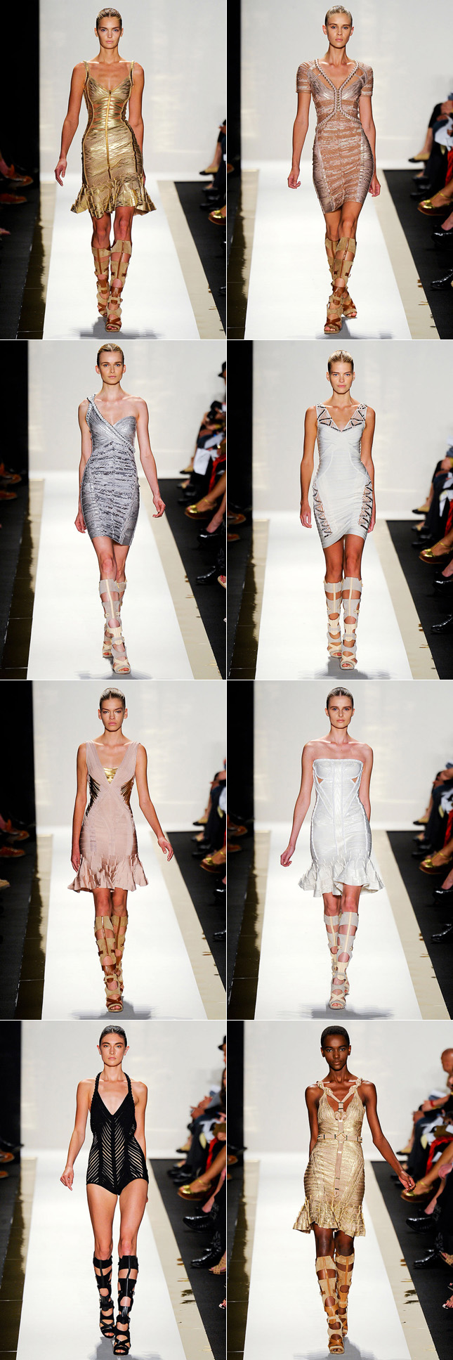 Desfile Herve Leger NYFW Verão 2012 New York Fashion Week