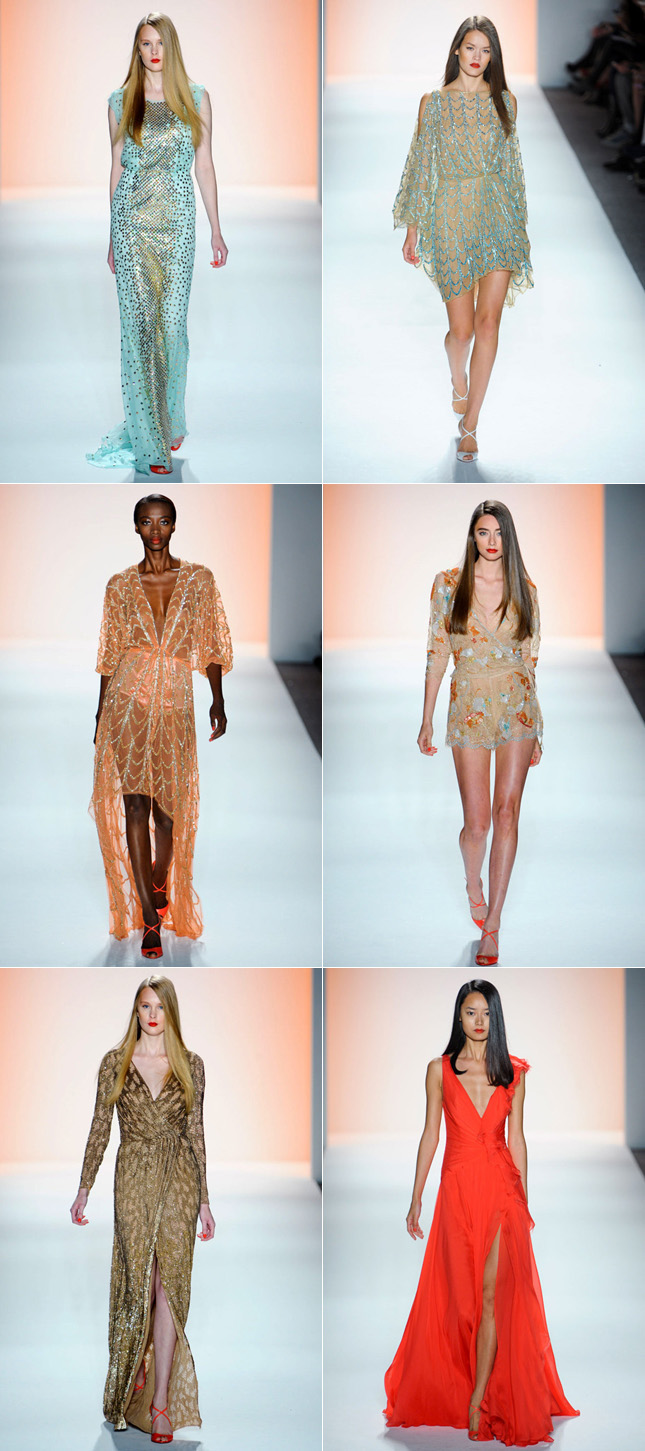 Desfile NYFW Jenny Packham Verão 2012 New York Fashion Week
