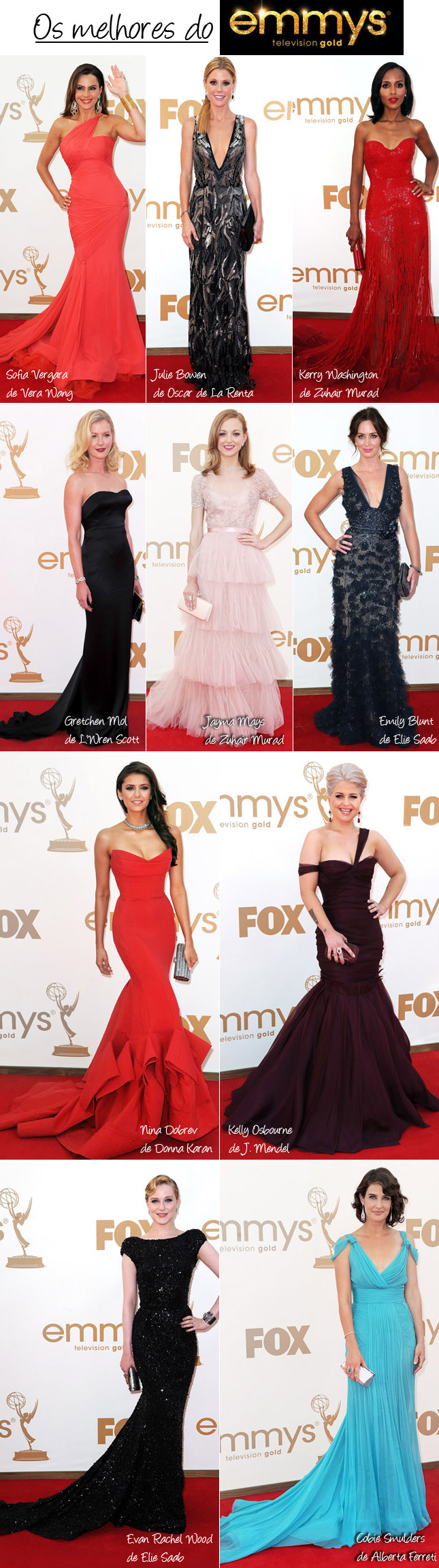 Vestidos Mais Bonitos do Emmy