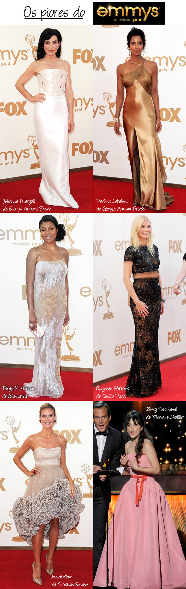 Os Vestidos Mais Feios do Emmy