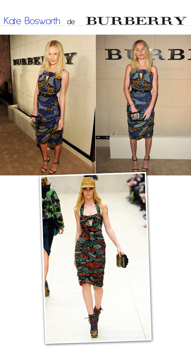 Look Kate Bosworth de Burberry