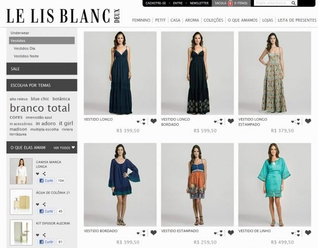 Le Lis Blanc Loja Online