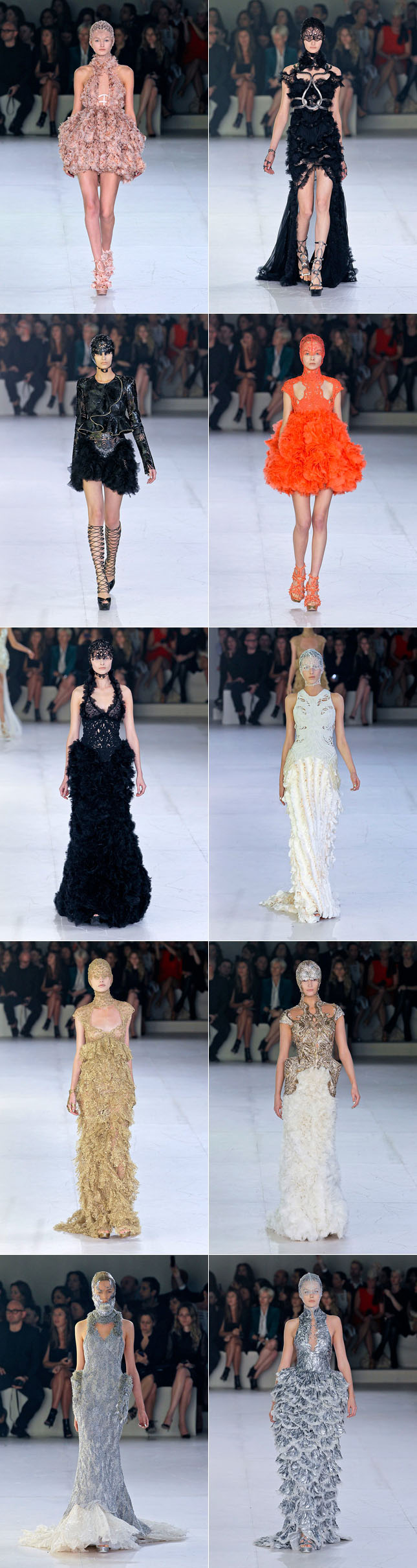 Alexander McQueen Verão 2012 Paris Fashion Week Desfile PFW