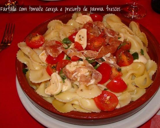 Cantina Vico d'O Scugnizzo - Farfalle com Tomate Cereja e Presunto Parma Frescos