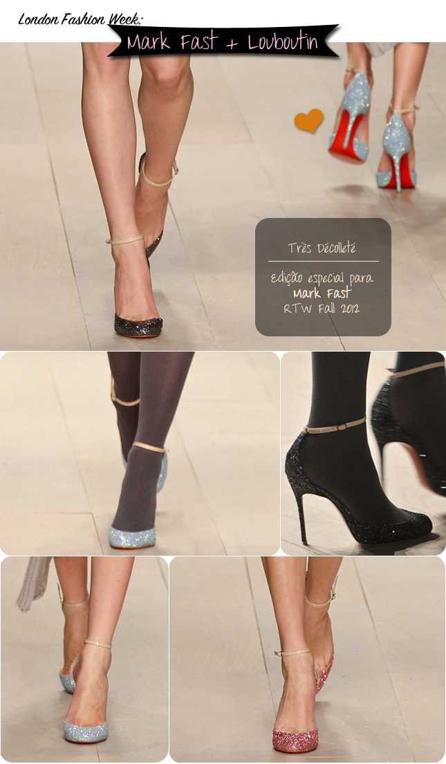 Louboutin sapato desfile Mark Fast London Fashion Week