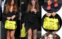 Look Preto Inverno Khloé Kardashian