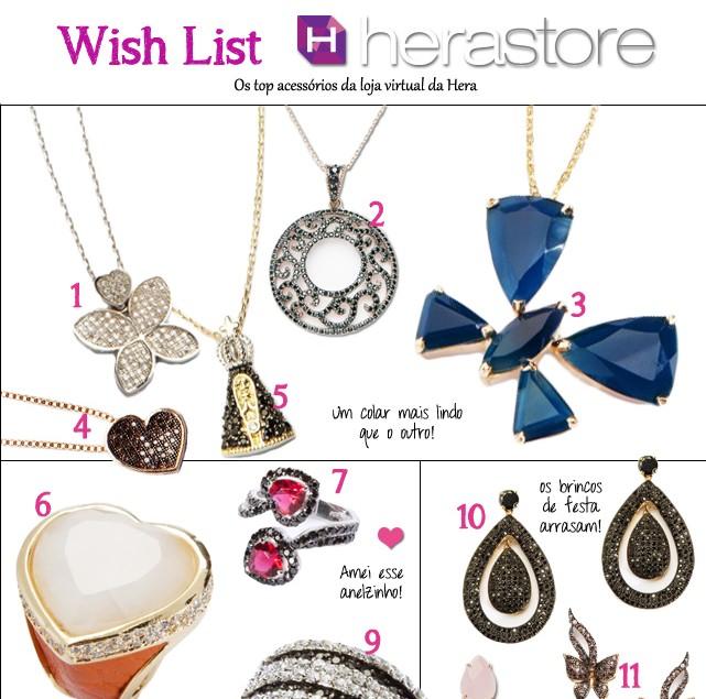 Wish List Hera Store semi joias acessorios pulseira colar brinco anel blog de moda