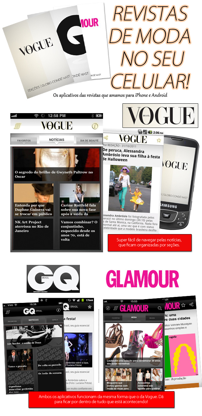 dica aplicativos revista de moda android iphone blog de moda oh my closet