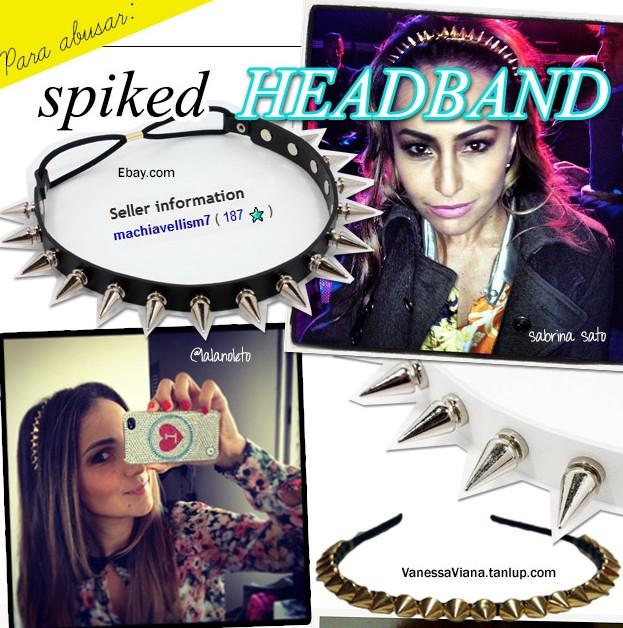 tendencia verao 2013 tiara de spikes blog de moda spiked headband
