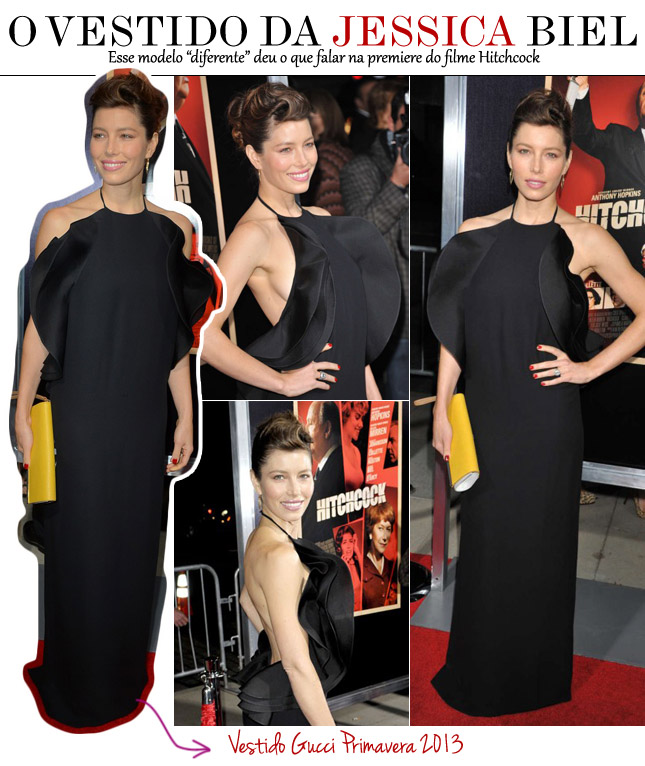 vestido jessica biel gucci premiere hitchcock look d dia blog de moda hot or not