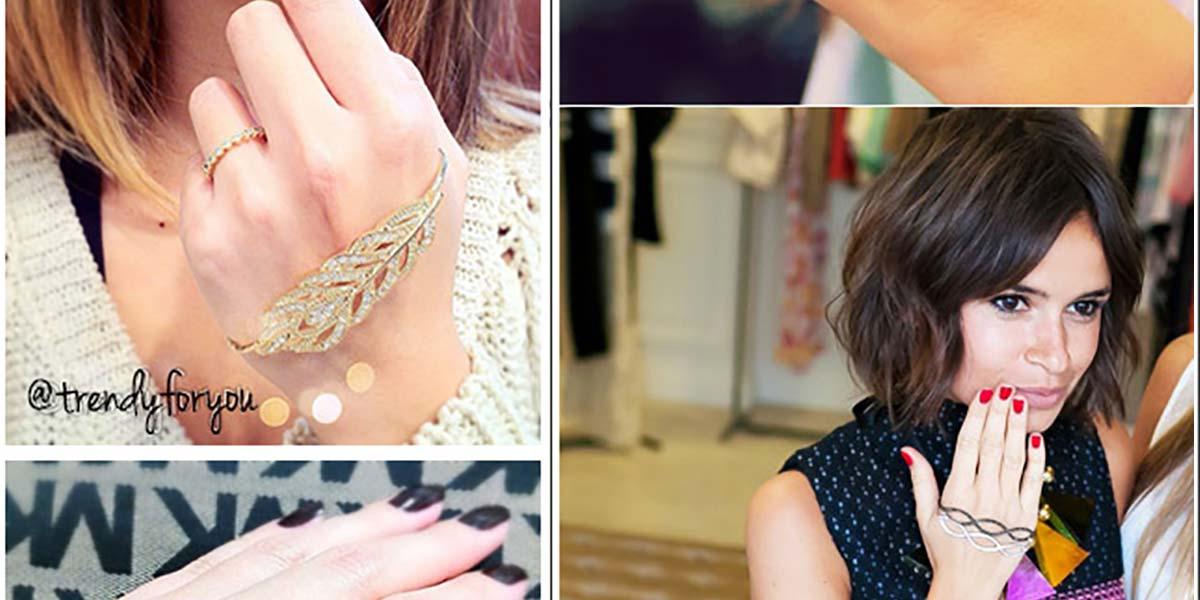 Pulseira de mão acessório do momento Hand palm bracelet
