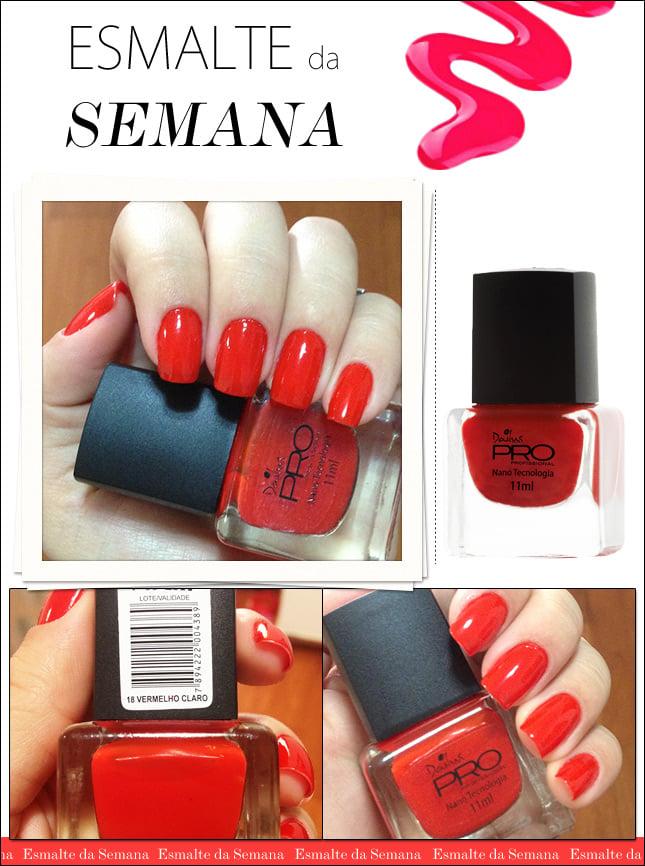 esmalte da semana blog de moda oh my closet dailus pro nanotecnologia vermelho claro 18