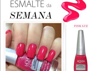 esmalte da semana pink luz mohda swatch blog de moda oh my closet