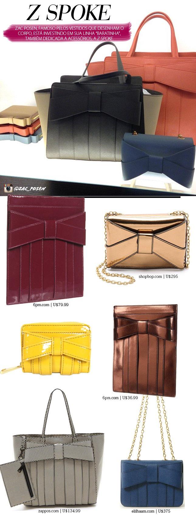 z spoke accessories sac posen blog de moda oh my closet bolsas sac posen laço tendencia marca barata zac posen