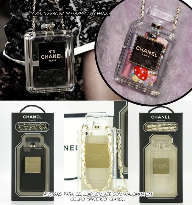 capinha para celular chanel blog de moda oh my closet bottle bag case iphone 5 5s chanel capinha bolsa celular moda dica
