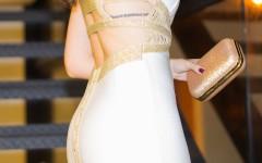 Close costas vestido bandagem