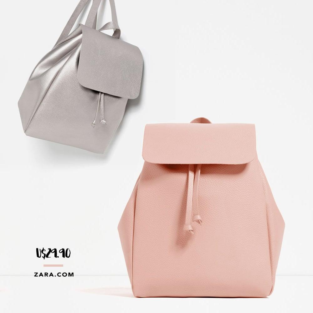 A mochila minimalista Zara está à venda nas lojas por um preço ótimo! Veja no Oh My Closet!