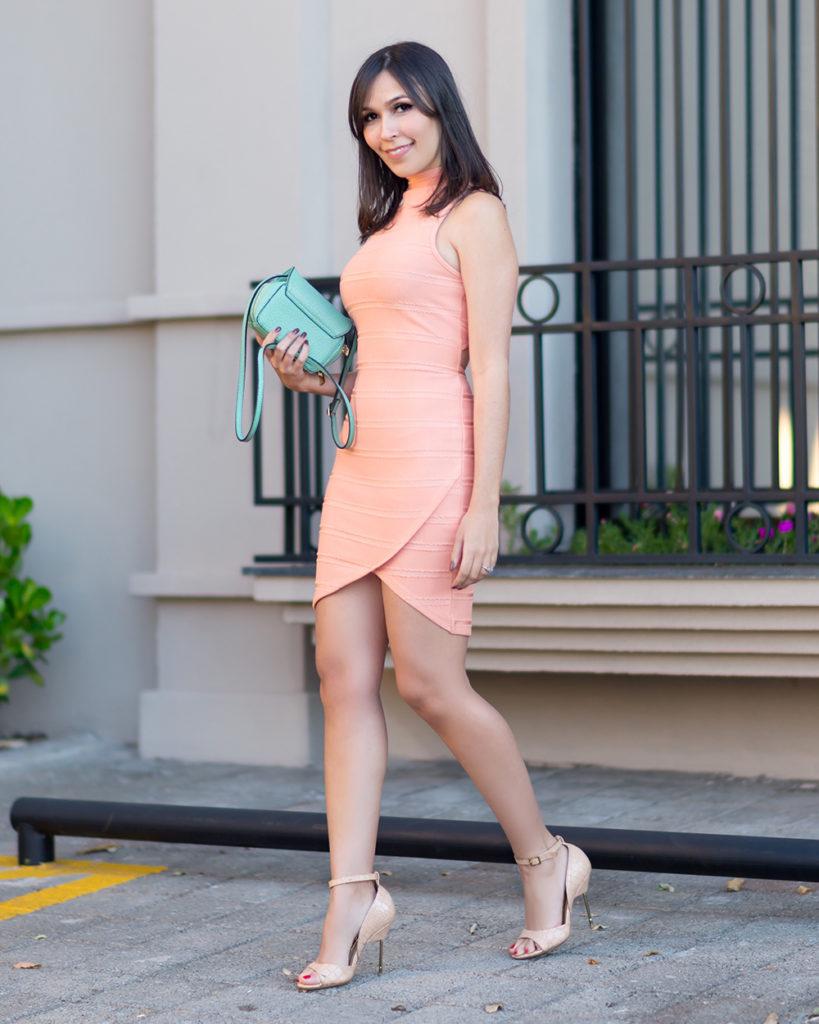 Vestido bandagem S Trend look Mônica Araújo Oh My Closet!
