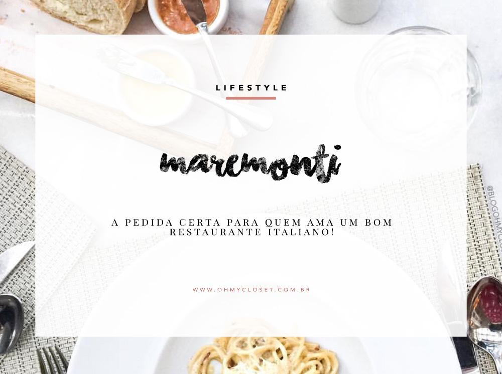 Hoje a influenciar Mônica Araújo compartilhou no Oh My Closet sua dica de restaurante em Rio Preto. Saibam mais sobre o Maremonti!