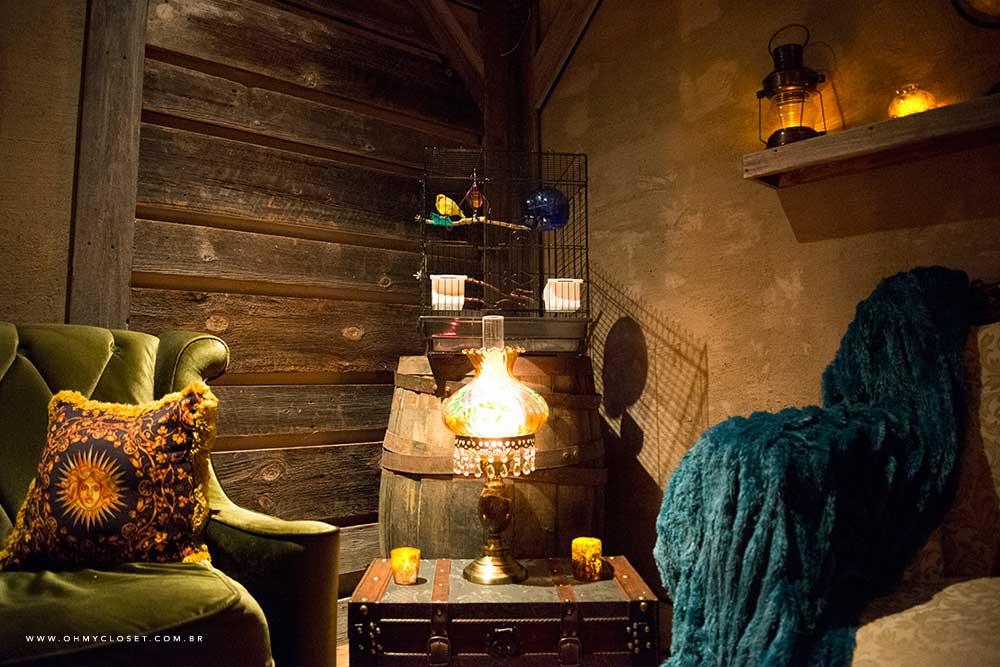 Sala de espera do spa dentro do hotel Parker New York.
