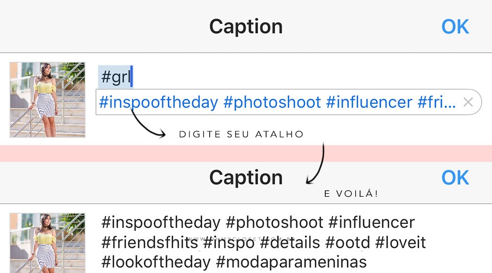 Hashtag hack dicas Instagram hashtags Oh My Closet! Mônica Araújo blogs collective.