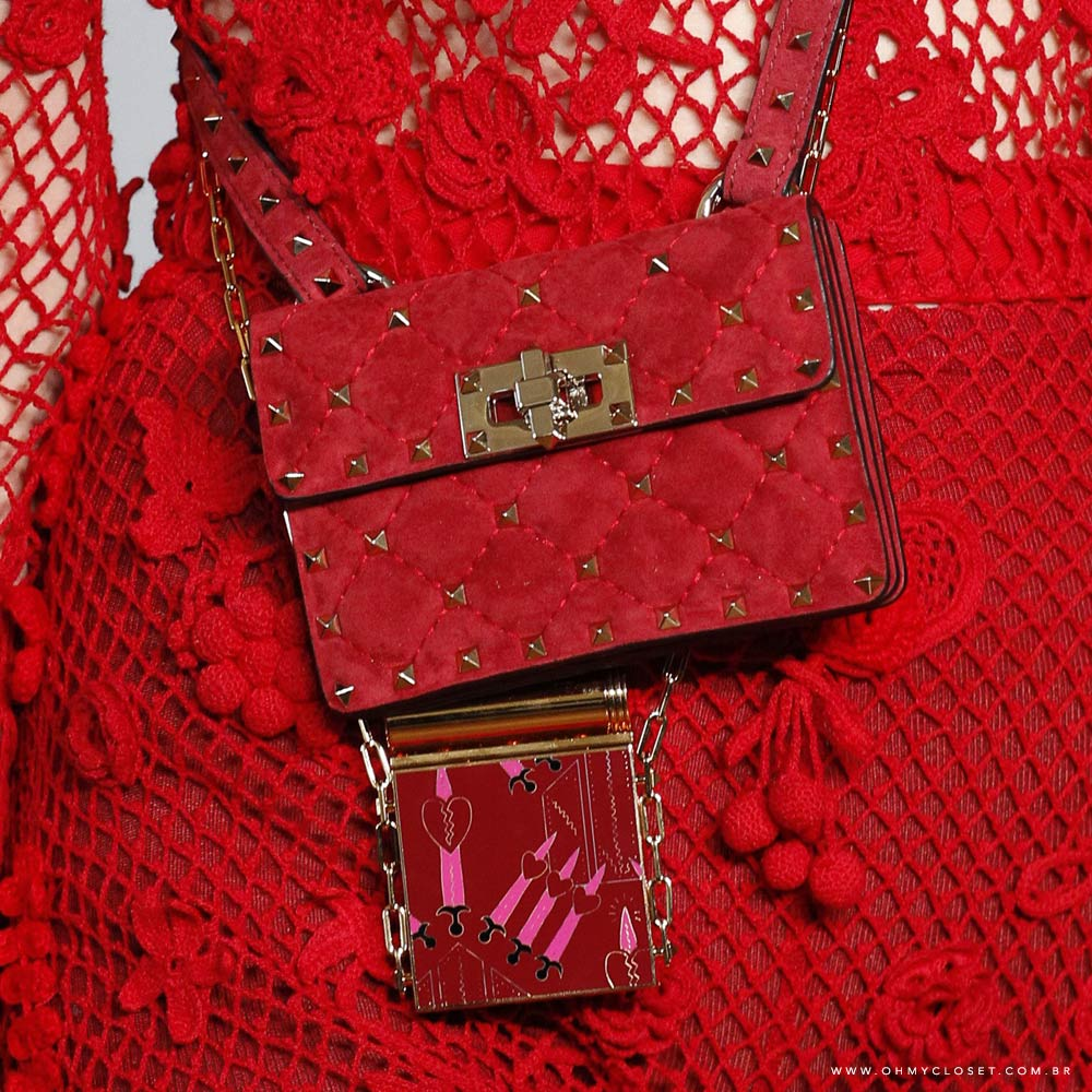 Detalhes micro bags Valentino PFW tendências bolsas Oh My Closet.