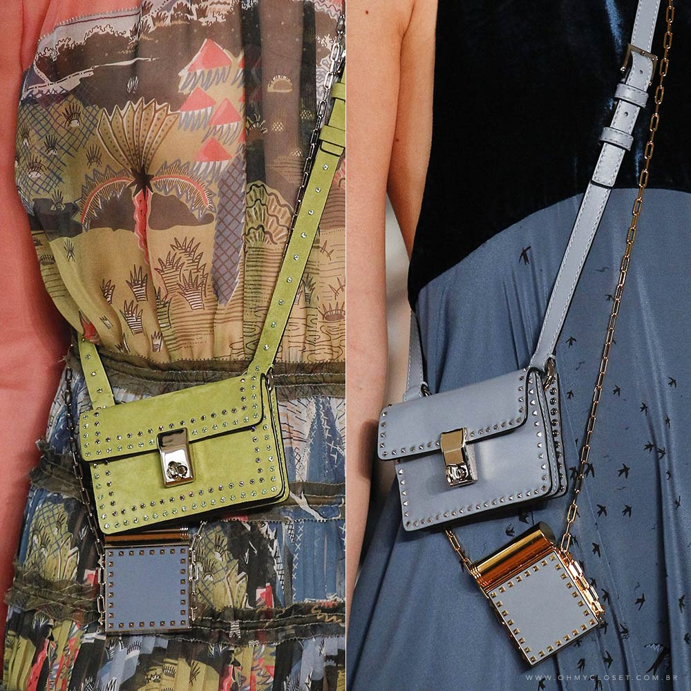 Detalhes micro bags Valentino Paris Fashion Week Monica Araujo tendências bolsas Oh My Closet.