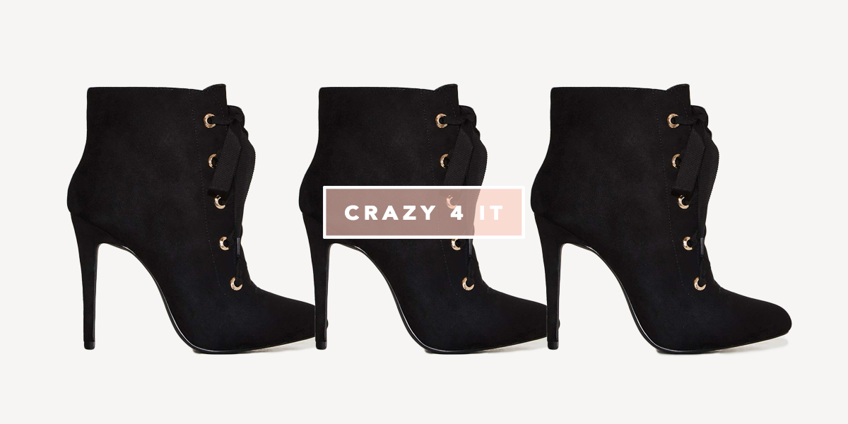 Nasty Gal Lace-up Bootie - Crazy 4 It - Oh My Closet!