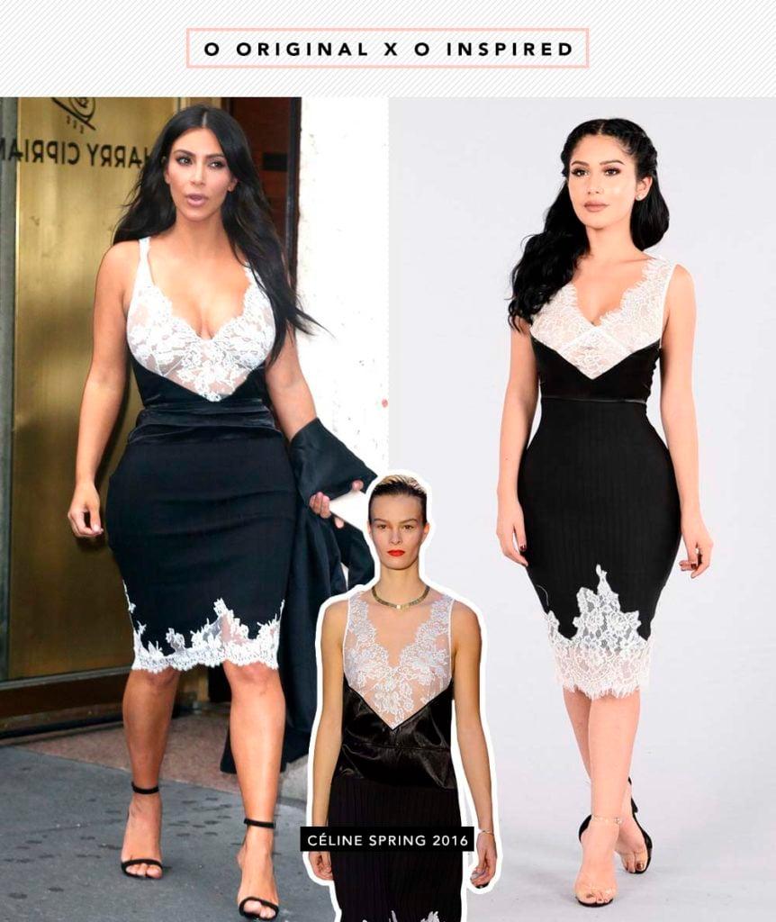 Céline x Fashion Nova, quem ganha? Vem ver o vestido inspired que Kim Kardashian usou e a Fashion Nova reproduziu!