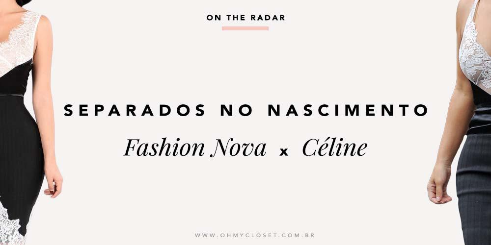Fashion Nova x Céline Vestido Kim Kardashian inspired onde comprar.