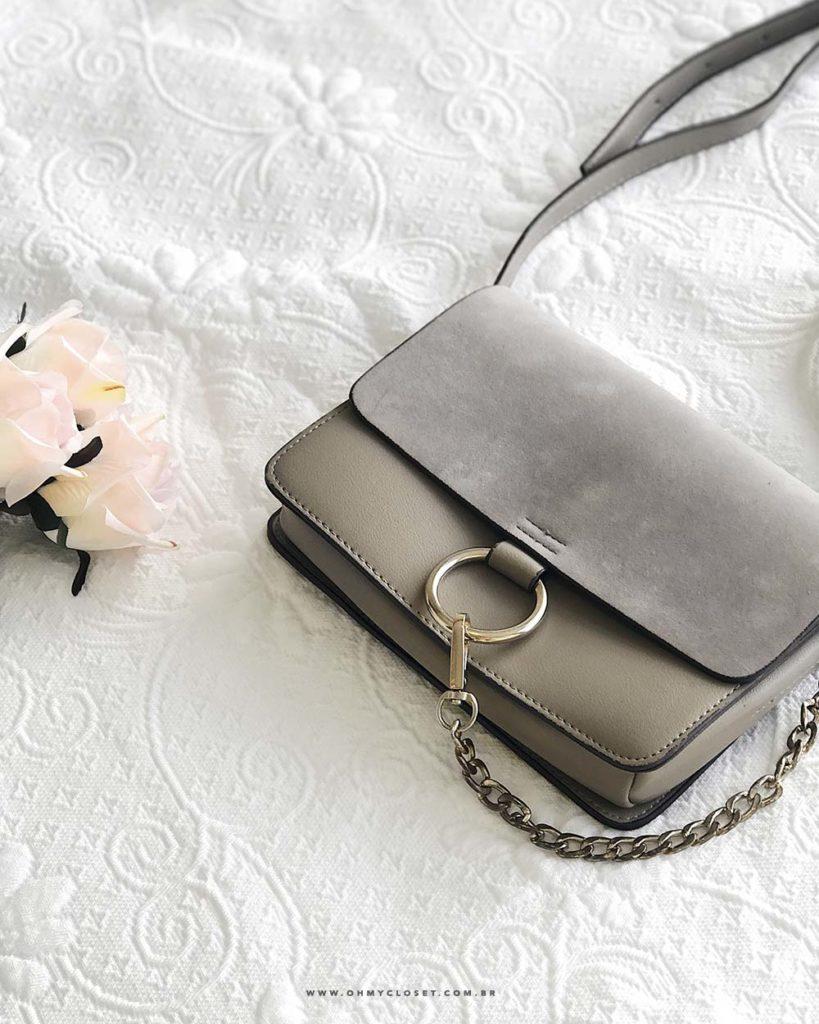 Bolsa Chloé Faye bag inspired do AliExpress. Confira as dicas do Oh My Closet para comprar bolsa barata.