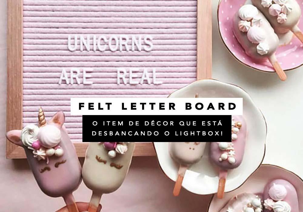 Felt letter board, ou quadros de feltro, são tendência de décor.