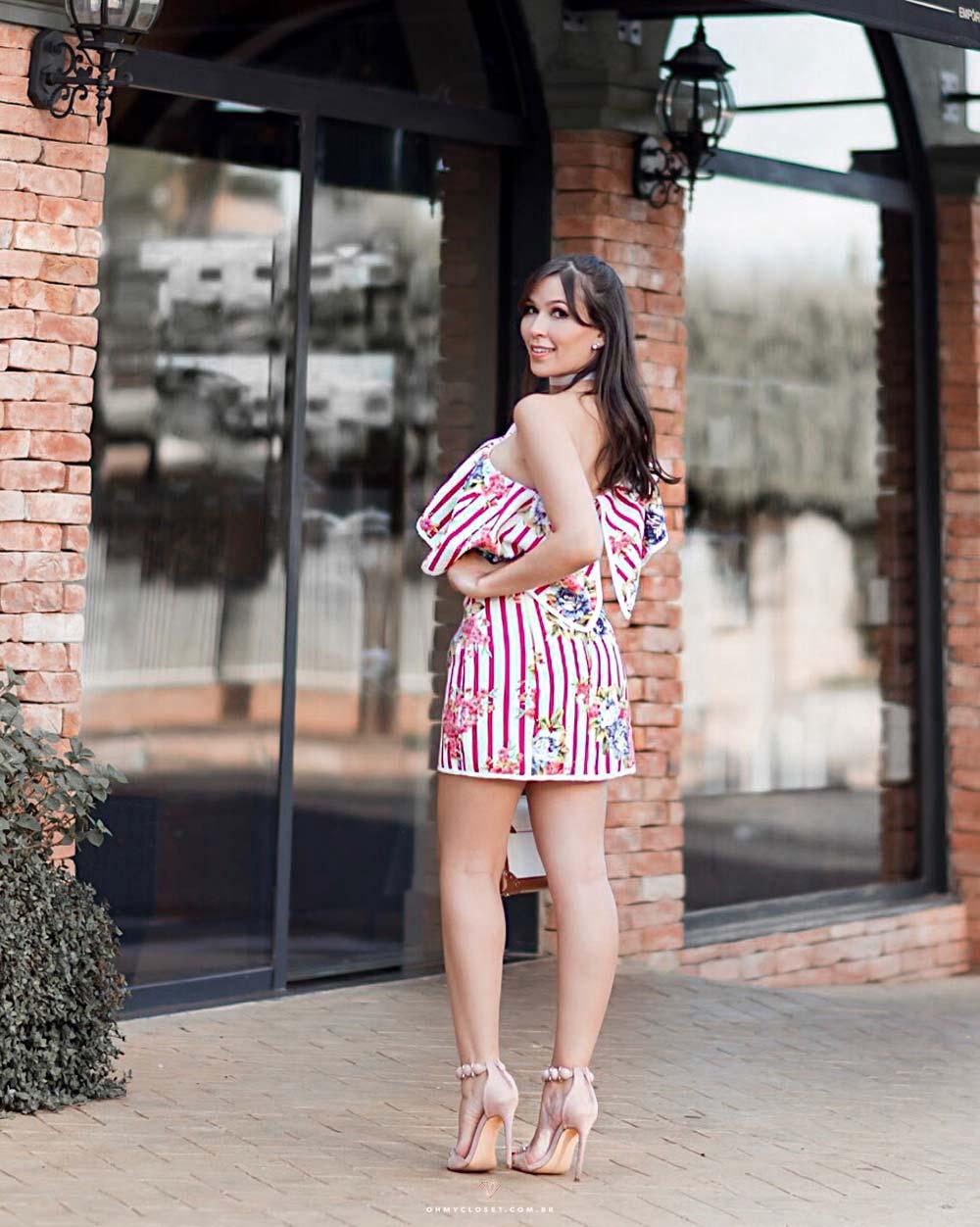 Vestido Hortênsia de umbro só da S Club skazi, por Mônica Araújo.