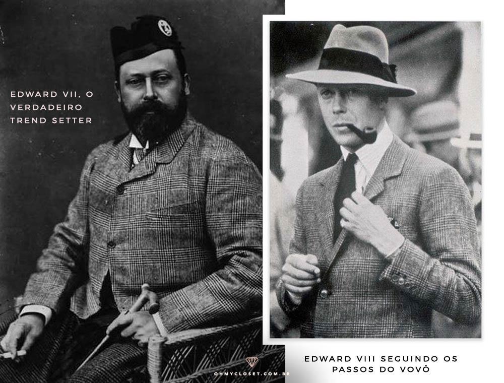 Edward VII e Edward VII, responsáveis pela difusão do uso do xadrez Príncipe de Gales.