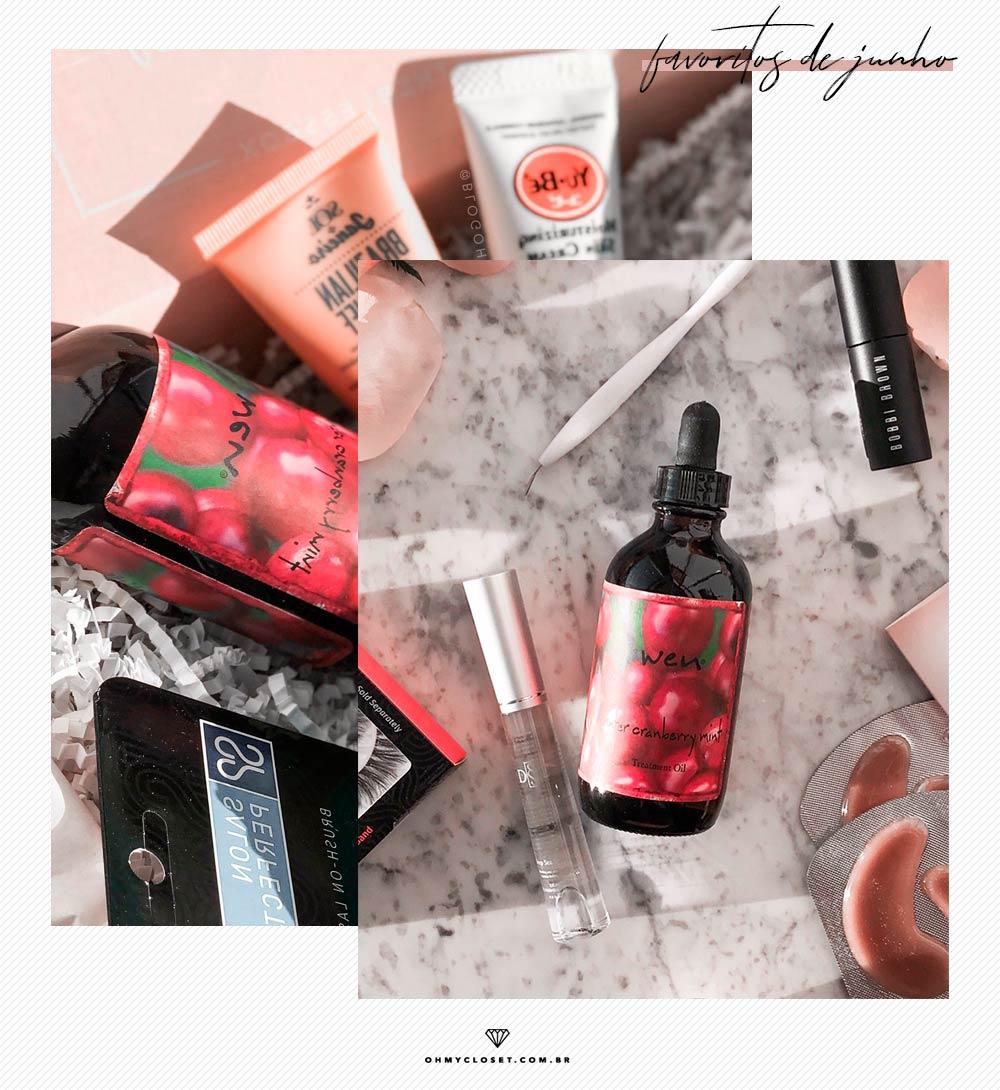 Review do óleo de tratamento Wen cranberry mint, que veio na Bless Box.