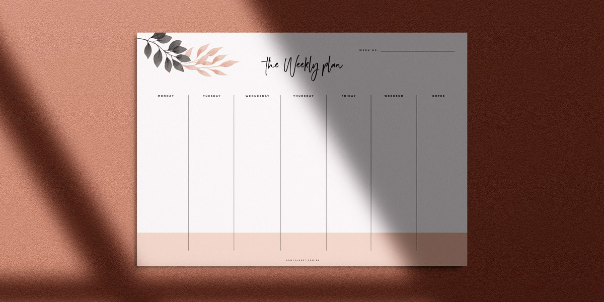 Weekly Planner - Planner Semanal com download grátis do Oh My Closet