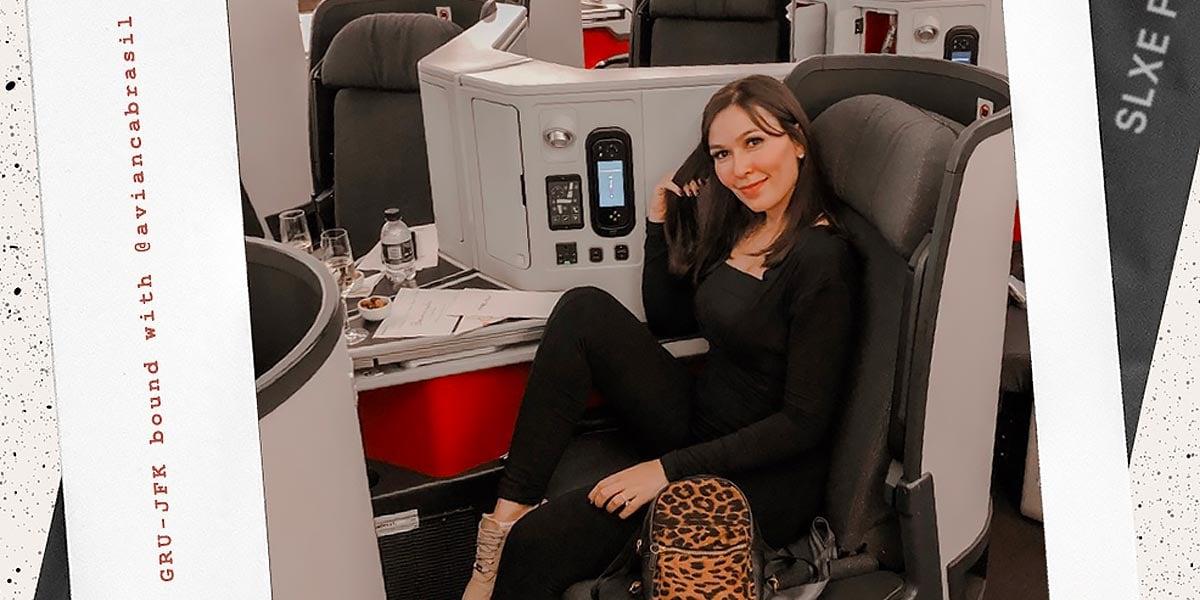 Oh My Closet faz review da classe executive da Avianca, por Mônica Araújo.