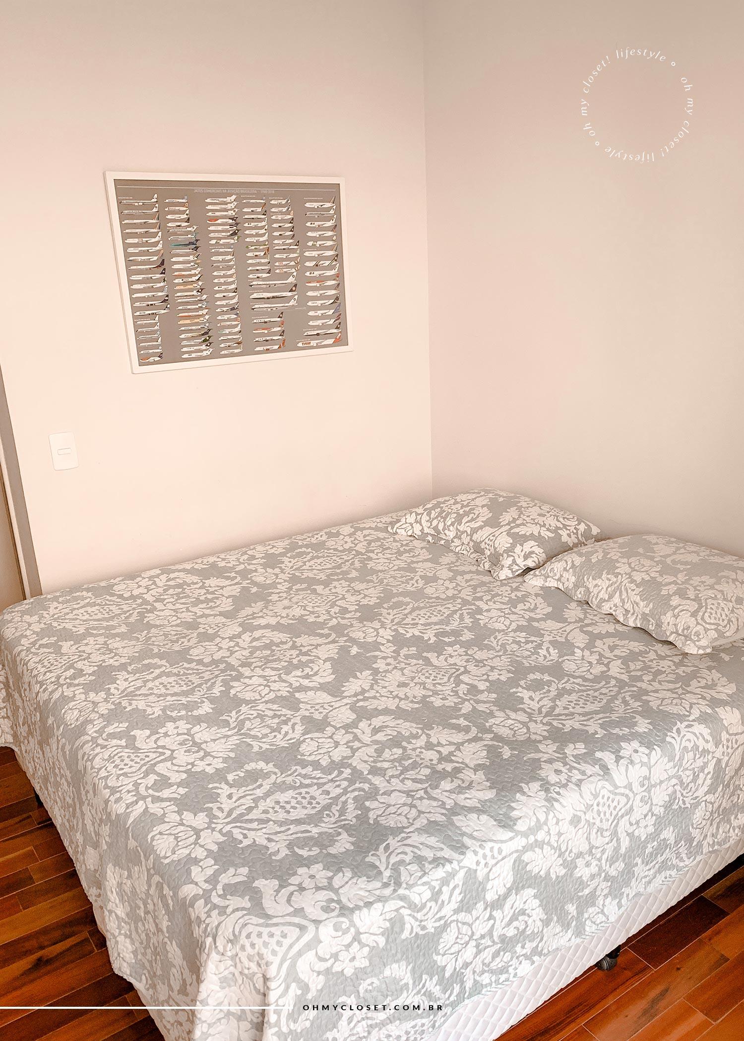 Cama quarto 1 apartamento Campos do Jordão