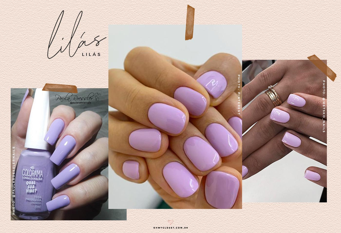 Esmalte lilás é uma das cores mais fortes para 2020.