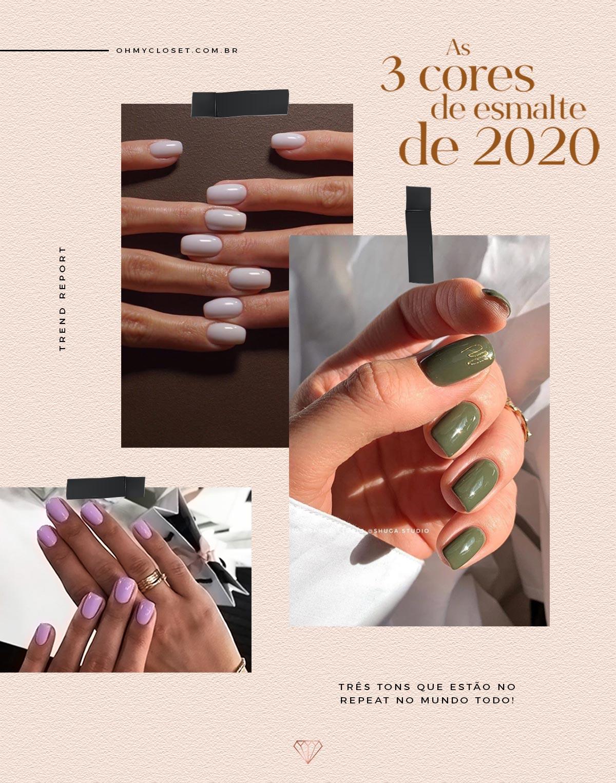 As 3 cores de esmalte que são tendência para 2020.