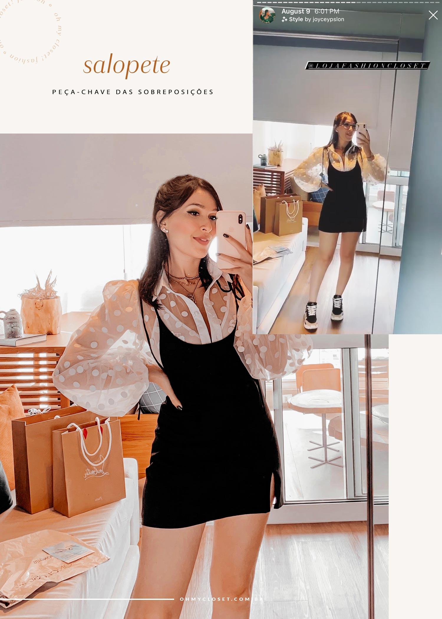 Salopete Scarllet da Fashion Closet com a influencer Mônica Almeida.