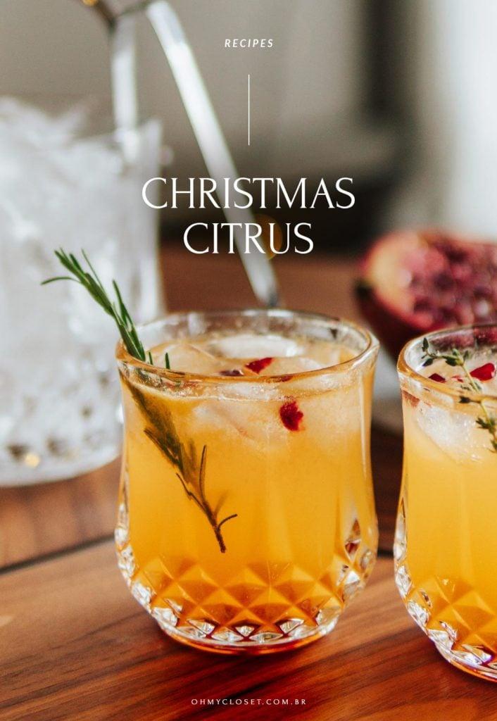 Christmas citrus drink, tangerina, limão siciliano, vodka e ginger beer.