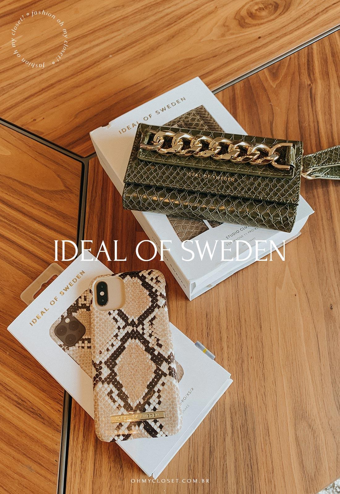 Clutch e case para iPhone X, XS, 11 e 12 IDEAL OF SWEDEN