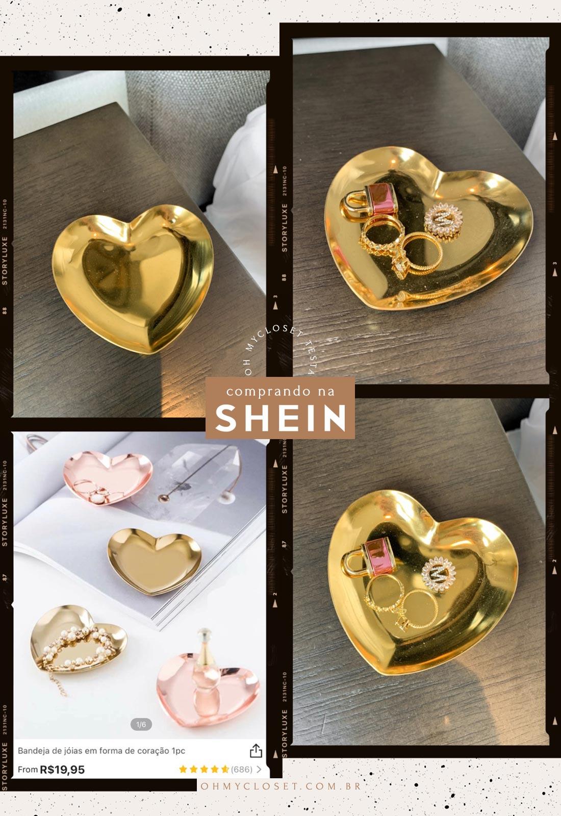 Decoração e porta anel da SHEIN.