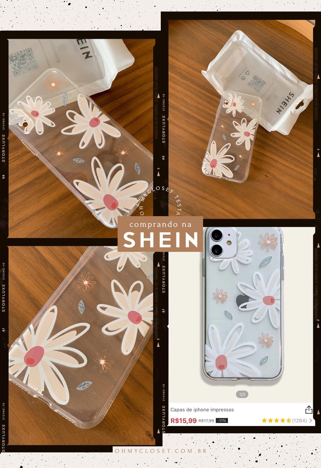 Capinha para celular iPhone da SHEIN.