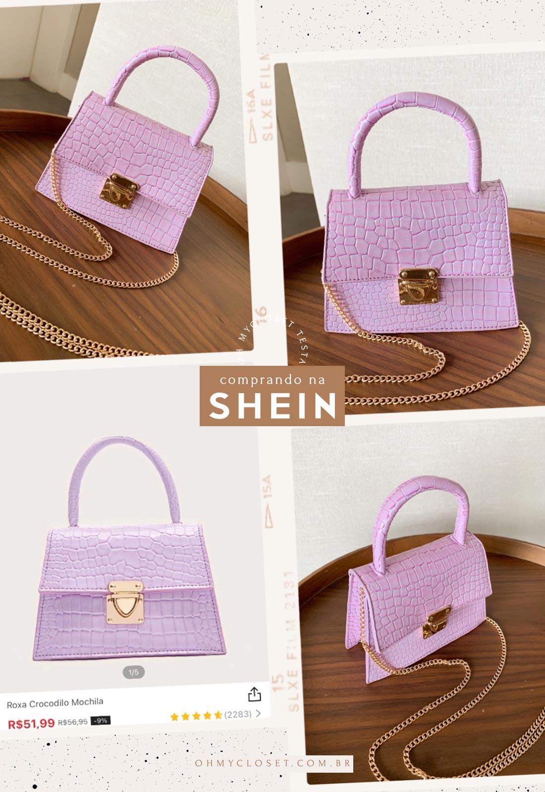 Bolsa rosa da SHEIN.