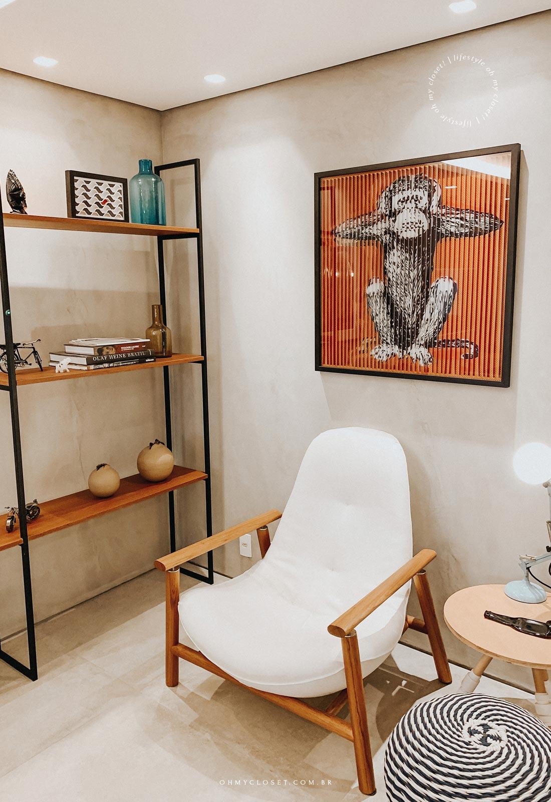 Mais detalhes decoração apartamento AirBnB em Pinheiros.